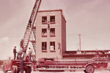 Hook and ladder at Fire Department training center, Nashville, Tennessee, circa 1969