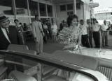 Maureen O'Hara receives key to the City upon arrival to Nashville, Tennessee, 1961 July 23