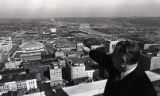 Mayor Briley on the observation deck of Life & Casualty Tower, Nashville, Tennessee, circa...