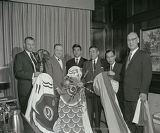 Mayor Ben West with Japanese representatives at Genesco, 1961 March 09