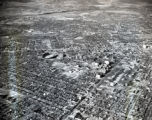 Aerial of the Vanderbilt University campus area, Nashville, Tennessee, 1961 January 03