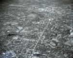 Aerial of West End Avenue and Vanderbilt University campus area, Nashville, Tennessee, 1961...