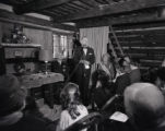 Mayor Ben West speaking at Fort Nashborough, 1962 November 25