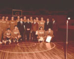 Italian basketball team poses for group photograph, 1964 January 18