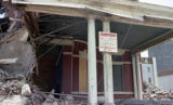 Elk's Club Lodge House being razed for new construction on Sixth Avenue N, Nashville, Tennessee,...