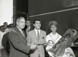 Tommy Sands and Nancy Sinatra arrive at Union Station and visit McNeilly Day Home, Nashville,...