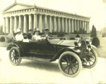Two couples in a Hudson automobile at the Parthenon, Nashville, Tennessee, circa 1910