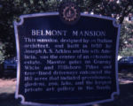 Belmont Mansion historical marker, Nashville, Tennessee, 1978 July