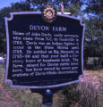 Devon Farm historical marker, Nashville, Tennessee, 1978 June