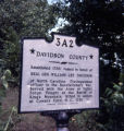Davidson County historic marker, Nashville, Tennessee, 1977 August