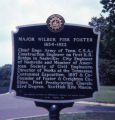 Major Wilbur Fisk Foster historic marker in Centennial Park, Nashville, Tennessee, 1977 July