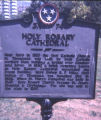 Holy Rosary Cathedral historical marker, Nashville, Tennessee, 1978 July