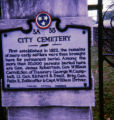 Nashville City Cemetery historic marker, Nashville, Tennessee, 1978 May