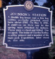 Johnson's Station historic marker, Nashville, Tennessee, 1978 July