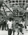 Midway amusement rides at the Tennessee State Fair, Nashville, Tennessee, 1975 September