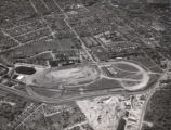 Aerial view of the Tennessee State Fairgrounds, Nashville, Tennessee, 1958 April 23