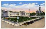 War Memorial Bldg. and State Capitol - Nashville - Tenn., circa 1942