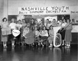 Nashville Youth Orchestra presents their instruments, 1951 December