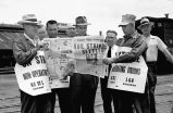 Railroad workers' strike ends, 1955 May 09