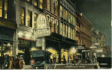 Fifth Avenue North, Toward Union Street by Night, Nashville,  Tennessee, circa 1910s