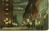 Church Street from Fifth Avenue by Night, Nashville, Tennessee, circa 1910s