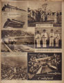 Photomontage of a pistol, Nashville visitors, a train, Minneapolis, children, and an ad. Nashville Tennessean, 1929...
