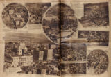 Photomontage of aerial views of Nashville in anticipation of a visit from Charles Lindbergh. Nashville Banner, 1927...