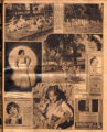 Photomontage of local school children, Hollywood actresses, and three ads. Nashville Banner, 1931...