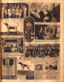 Photomontage of family reunions, radio celebrities, hunting dogs, a ceremony for a McMinnville...