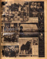 Photomontage of a beauty pageant, Nashville musicians, the New York skyline, Civil War veterans,...