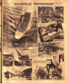 Photomontage showing US Navy aircraft and carrier, President Hoover's fishing retreat, competitive...