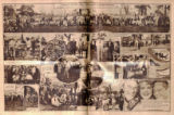 Photomontage of a World War I reunion held in Nashville and two advertisements. Nashville...