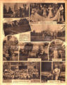 Photomontage showing Meriwether Lewis park and memorial, a bridal party, and a family reunion. ...