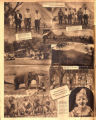 Photomontage of Rutherford County fox hunt and advertisement for circus. Nashville Tennessean,...