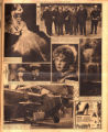 Photomontage showing an actress, a beauty contest winner, pilots, an airplane, Rattlesnake Falls,...