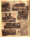 Photomontage of Nashville scenes during the Civil War with an annoucement of Lincoln's...
