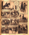 Photomontage of girls riding horses at Woodland Trails. Nashville Banner, 1928 May 13.
