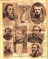 Photomontage of portraits of military leaders in Tennessee during the Civil War. Nashville Banner,...