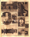 Photomontage of the William Strickland home, his dog's tombstone, President Coolidge, a Naval...
