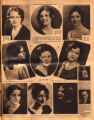 Photomontage of portraits of Tennessee women in a beauty contest and two ads. Nashville...