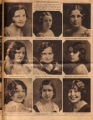 Photomontage of portraits of Tennessee women in a beauty contest. Tennessean, 1931 March 22.