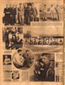 Photomontage of a football team and sports writers in California, and three ads. Tennessean, 1931...
