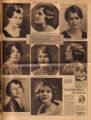 Photomontage of portraits of Tennessee women in a beauty contest and two ads. Tennessean, 1931...
