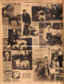 Photomontage of Nashville dogs and their owners, with three ads. Tennessean, 1931 February 22.