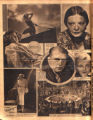 Photomontage of portraits of actors, one scene from a movie, and an ad. Nashville Banner, 1932 May...