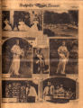Photomontage of Nashville May Day celebration, a dog in a dogshow, and boys with their winning...