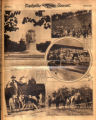 Photomontage of the Peace Monument in Washington, D. C., President Hoover at the Battle of King's...