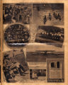 Photomontage of boy scouts at Camp Boxwell, the national prohibition director, a powered airplane...