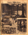 Photomontage of Glen Echo Lake, a fire at the Old Hickory barge, an artist at the State Fair,...