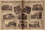 Two page photomontage of Nashville's funeral homes. Nashville Banner, 1927 April 17.